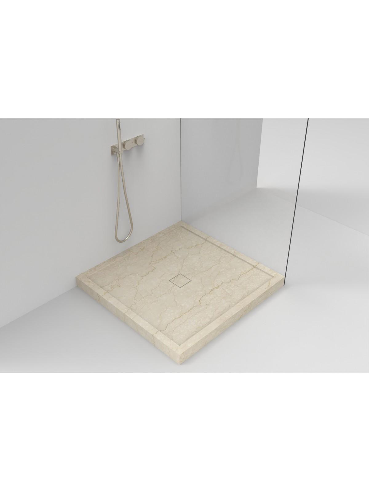 Brodzik w pudełku z marmuru Botticino (marmurowy odpływ)
