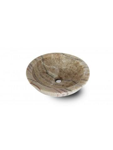 Klasyczny okrągły zlew z Onyksu