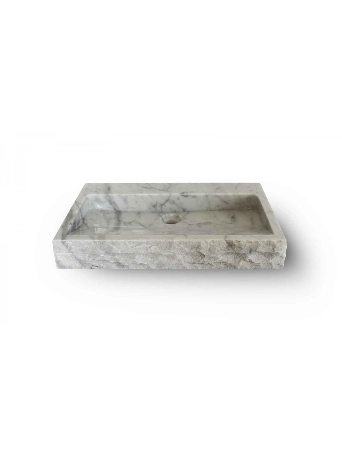 Kwadratowy zlew z Carrara