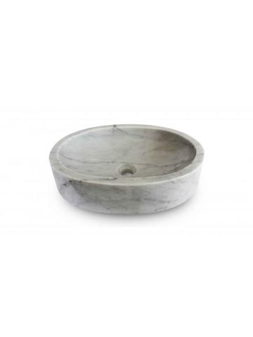 Okrągły zlew z Carrara